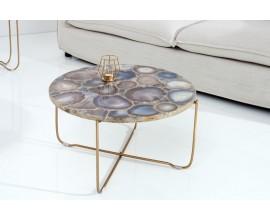 Luxusný achátový konferenčný stolík Jaspe 62cm