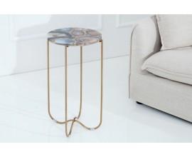 Luxusný achátový stolík Jaspe 35cm