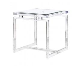 Sklenený príručný stolík Lagas štvorcový 60cm