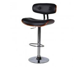 Dizajnová barová stolička čierna