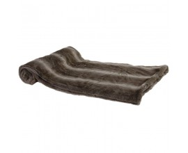 Štýlová hnedobiela deka z umelej kožušiny