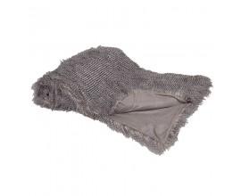 Štýlová sivá deka z umelej kožušiny