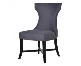Štýlová čalúnená jedálenská stolička modrosivá