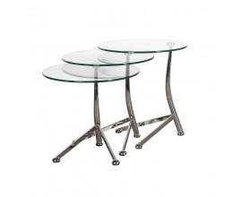 Set troch dizajnových príručných stolíkov Amelot