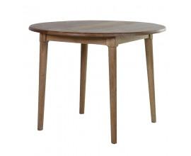 Okrúhly jedálenský stôl z dubového masívu Bernadette