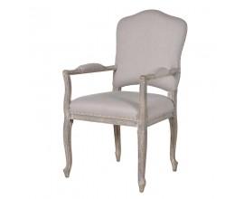 Štýlová jedálenská stolička Isabelle béžová s opierkami
