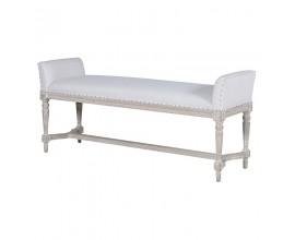 Luxusná čalúnená lavica Elise biela 135cm