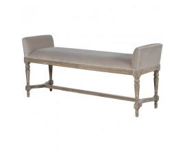 Luxusná čalúnená lavica Elise svetlohnedá 135cm