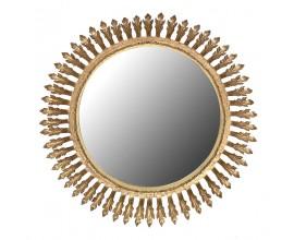Luxusné okrúhle nástenné zrkadlo v Art-Deco štýle