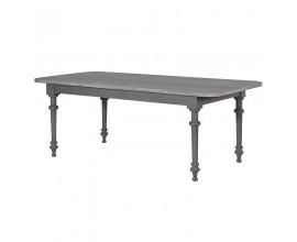 Štýlový šedý jedálenský stôl Gent