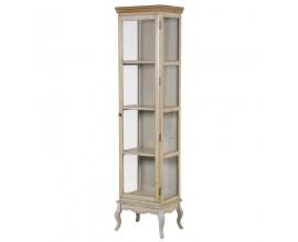 Štýlová vysoká vintage vitrína Sienna