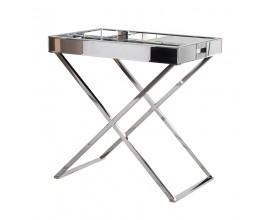 Dizajnový kovový odkladací stolík s podnosom Easton
