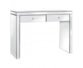 Štýlový zrkadlový toaletný stolík Granada s dvoma zásuvkami