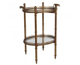 Jedinečný zrkadlový príručný stolík Lucero