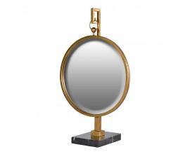 Dizajnové zlaté zrkadlo na stojane 77cm