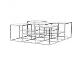 Art-deco dizajnový konferenčný stolík Cromia 120cm