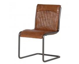 Kožená industriálna stolička BOSCO