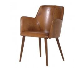 Štýlová kožená retro stolička Benard 81cm