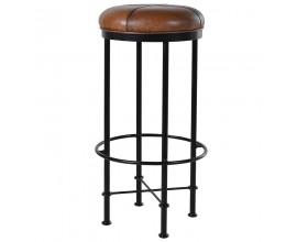 Industriálna okrúhla barová stolička BOSCO