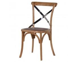 Masívna industriálna stolička z ohýbaného dreva Warren