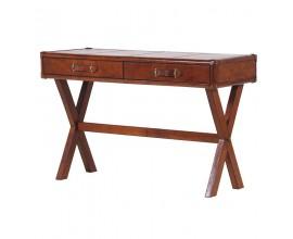 Atypický koloniálny kožený stôl MERIDA