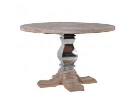 Luxusný okrúhly jedálenský stôl z masívu Braddock 135cm