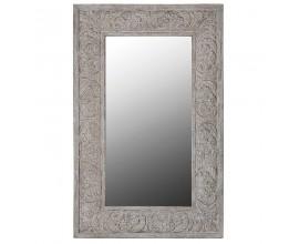 Štýlové nástenné vintage zrkadlo s vyrezávaným rámom LUCIENNE