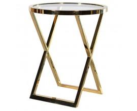 Dizajnový Art-Deco príručný stolík Wielton Nero