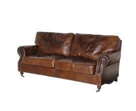 Luxusná kožená vintage pohovka Clifford 205cm