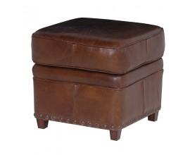 Kožená vintage taburetka Clifford