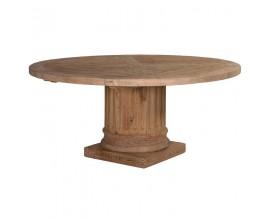 Okrúhly štýlový jedálenský stôl z dreva priemer 1,6 m