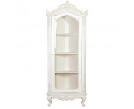Štýlová rohová provensálska vitrína Antic Blanc