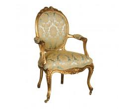 Luxusná antická stolička Roi Gilt zeleno zlatá