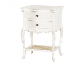 Štýlový nočný stolík Antic Blanc ratan