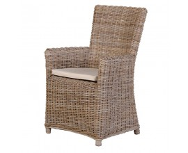 Štýlová ratanová stolička s lakťovými opierkami CUBA