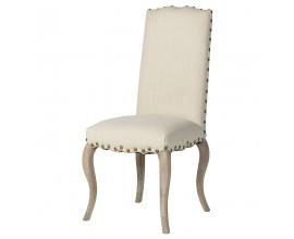 Štýlová jedálenská stolička Marvene krémová