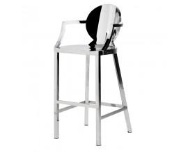 Dizajnová barová stolička z nerezovej ocele Cromia 106cm