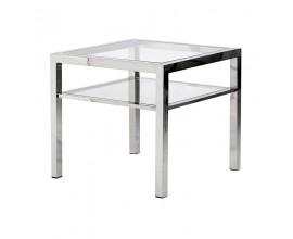 Štýlový kovový príručný stolík Cromia 55cm