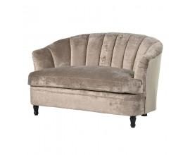 Štýlová béžová zamatová sedačka Lienza 135cm