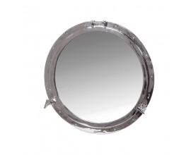 Industriálne niklové zrkadlo Porthole