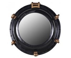 Industriálne nástenné zrkadlo Porthole