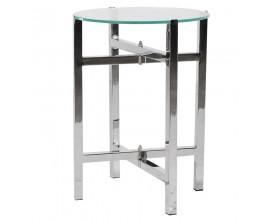 Dizajnový okrúhly príručný stolík Cromia 40cm