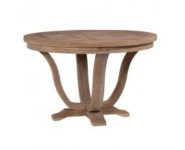 Masívny vidiecky okrúhly stôl
