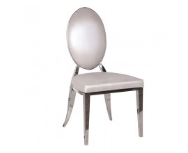 Elegantná jedálenská stolička Piera II hadia koža