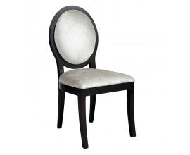 Dizajnová jedálenská stolička Piera I biely zamat