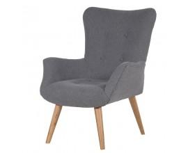 Dizajnová retro stolička sivá Soren