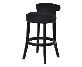 Luxusná barová stolička Clayton čierna