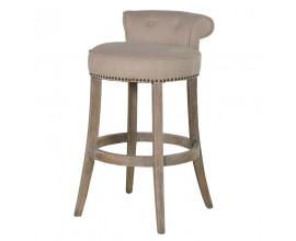 Luxusná barová stolička Clayton ľanová