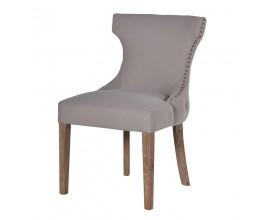 Luxusná jedálenská stolička Mauger II s béžovým poťahom