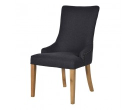 Štýlová jedálenská stolička Herringbone v čiernom prevedení 99cm